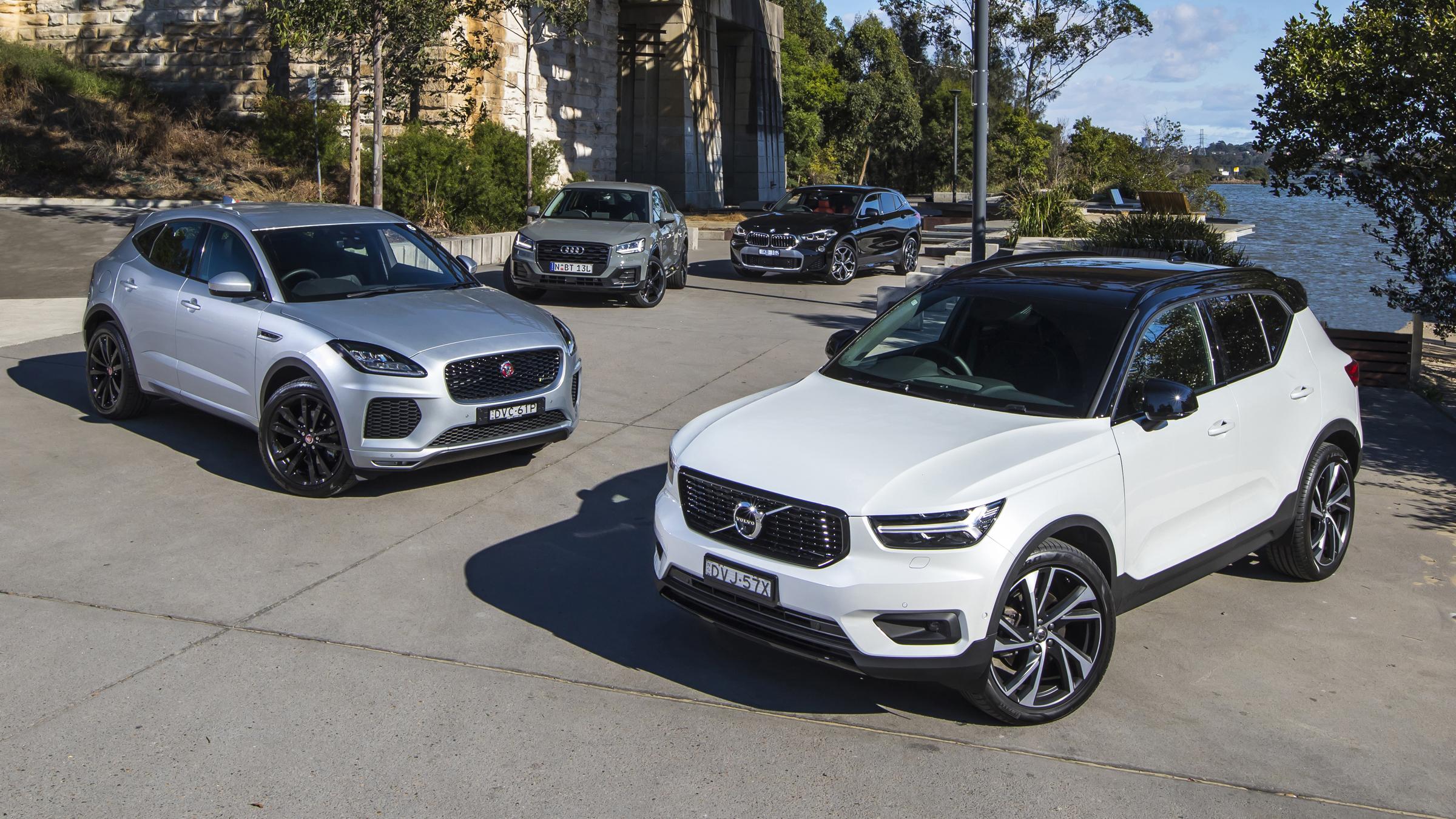 2018 Volvo XC40 v BMW X2 v Jaguar E-Pace v Audi Q2 comparison test