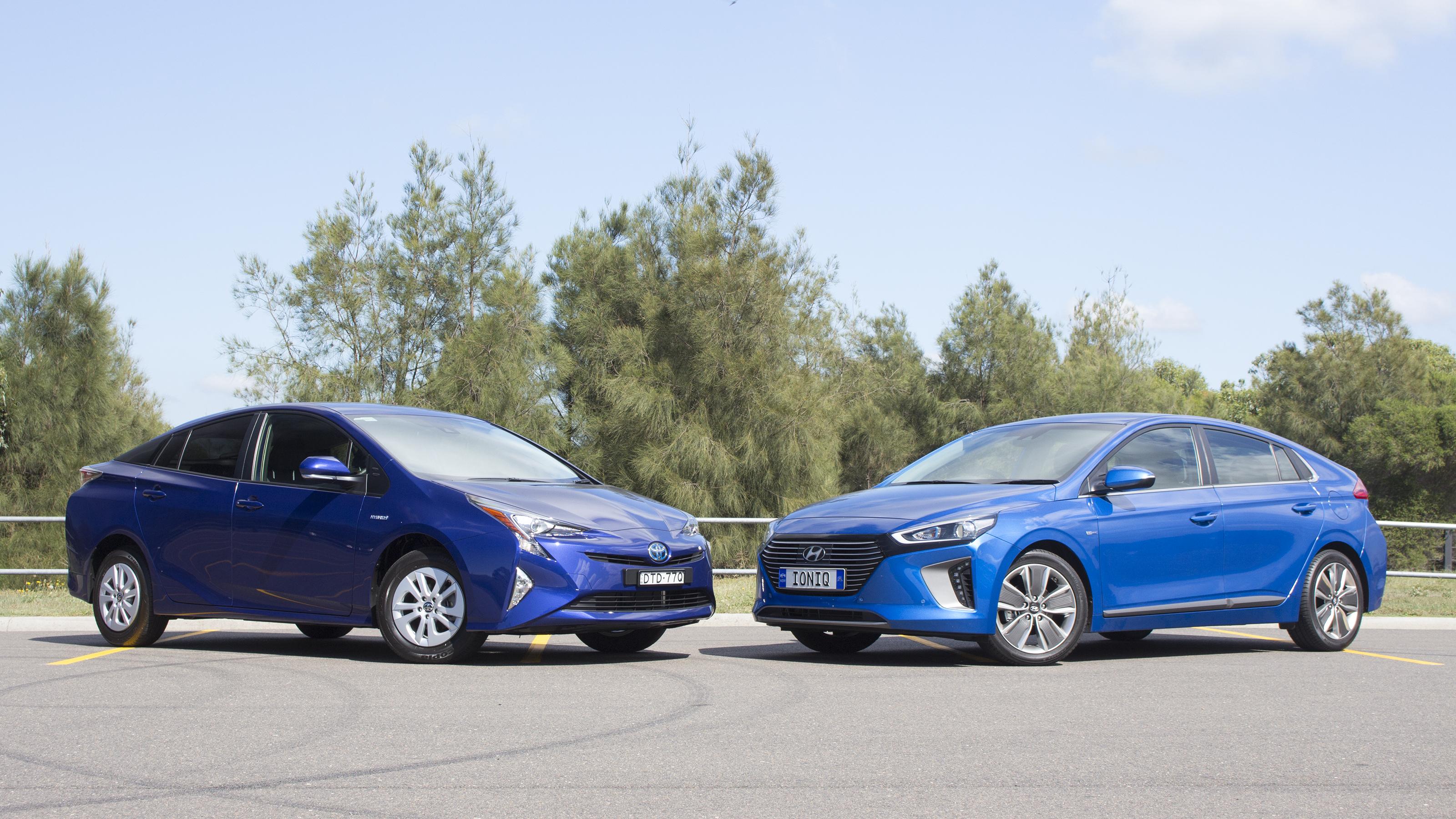 Hybrid theory: Toyota Prius vs Hyundai Ioniq.