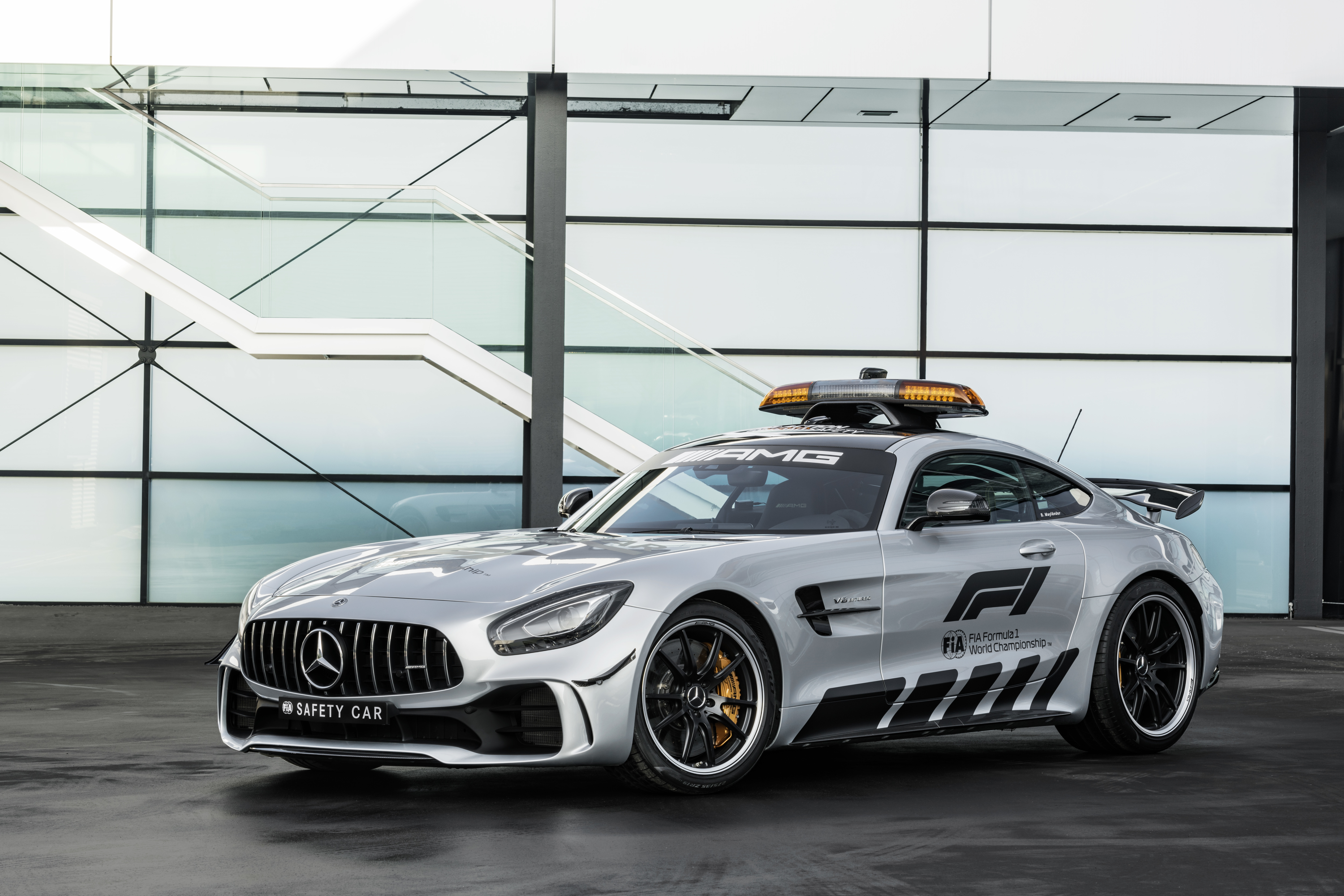 The new Mercedes-AMG GT pace car for this year's Australian GP.