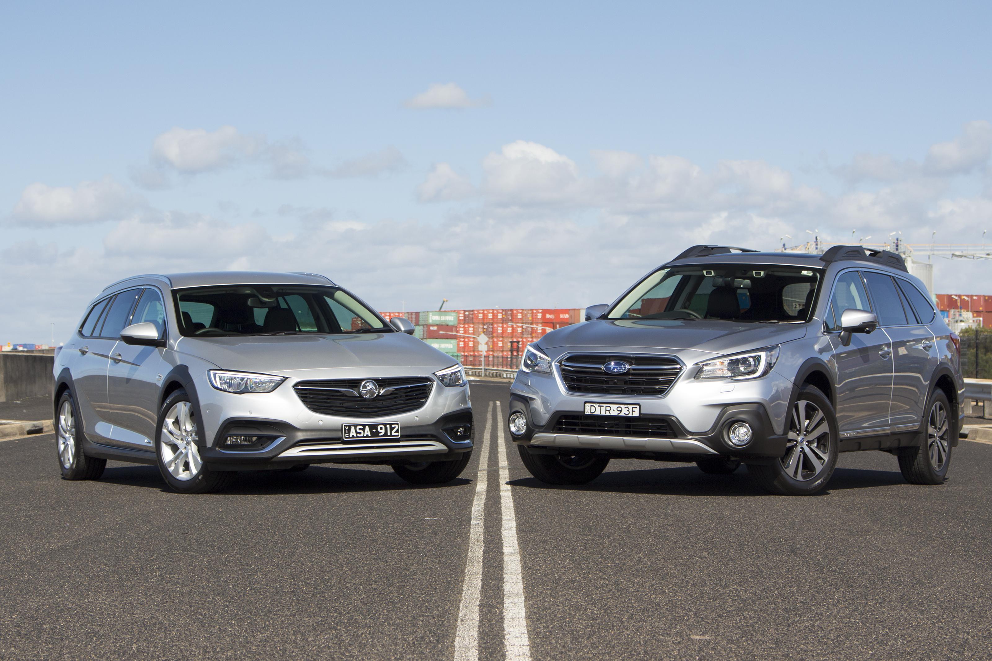 Holden Calais V Tourer v Subaru Outback 3.6R.