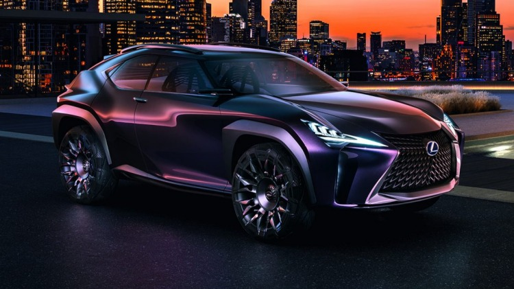 Lexus UX concept at the 2016 Paris motor show.