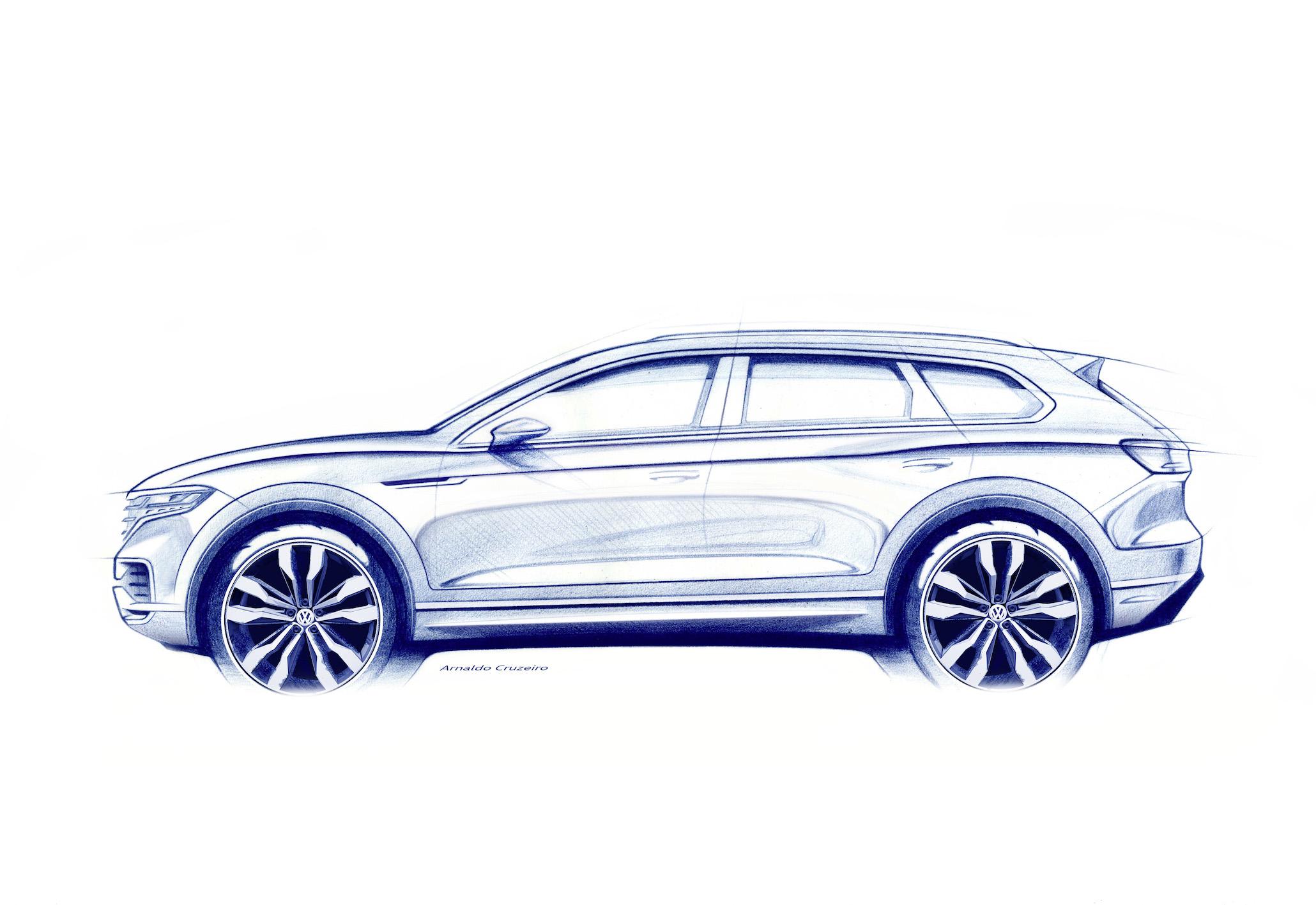 2019 Volkswagen Touareg sketch