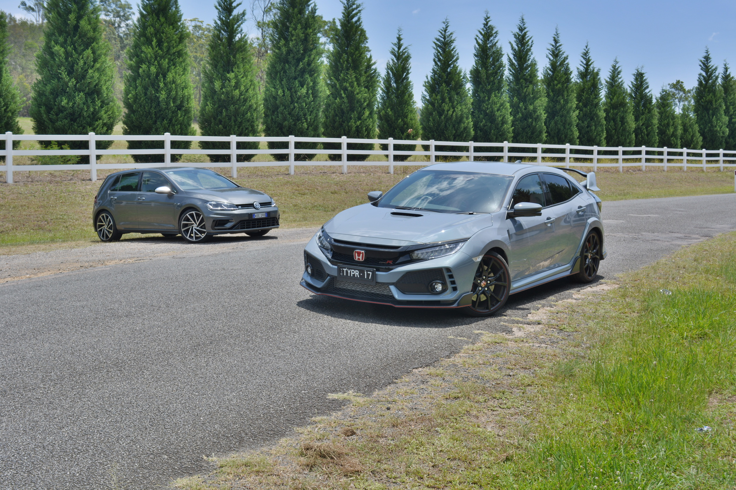 Hot hatch match - Honda Civic Type-R v Volkswagen Golf R Comparison Test
