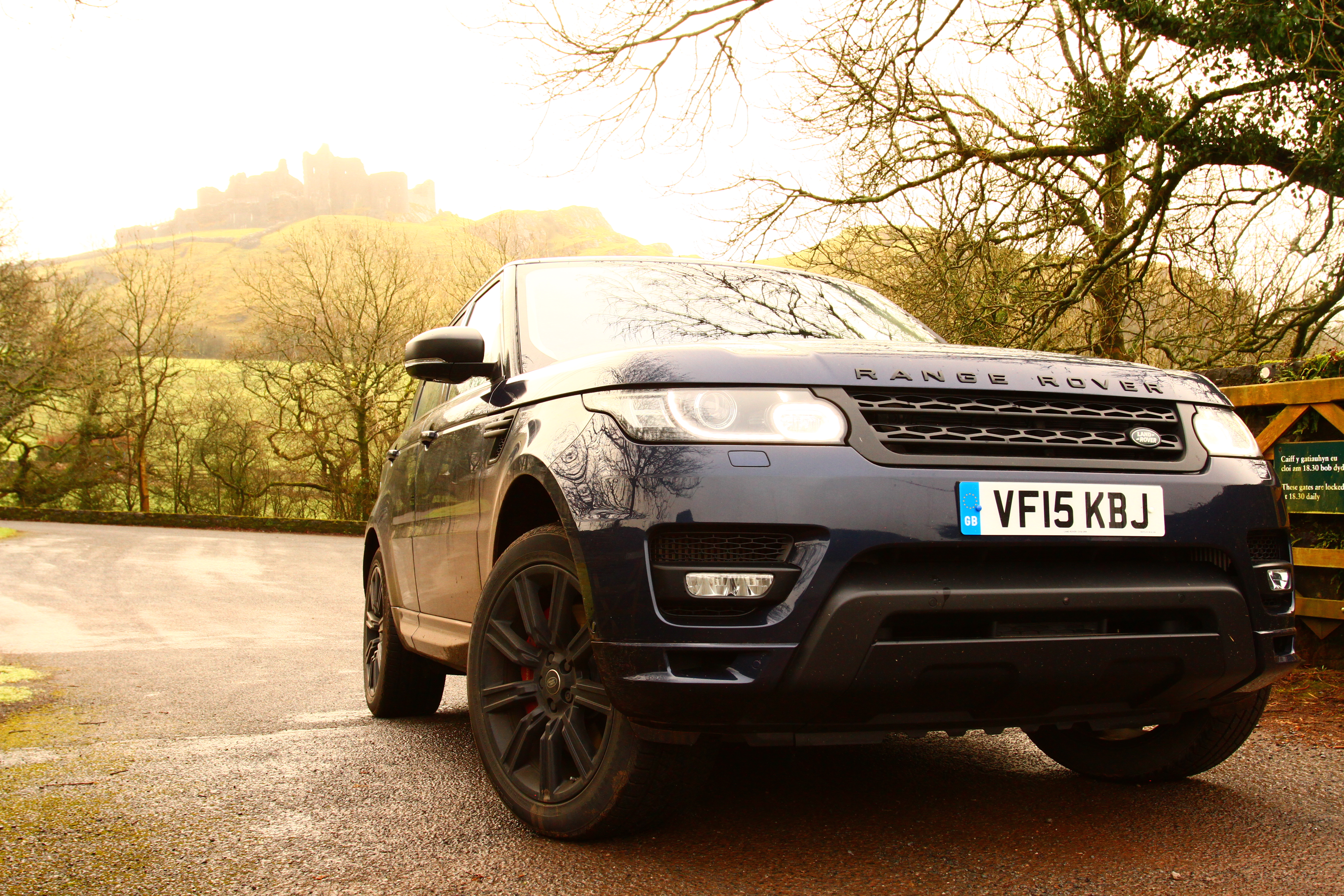 The Range Rover Sport was a perfect companion on a drive to Carreg Cennen in Wales.