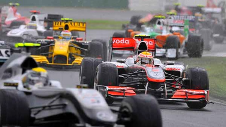 The wet and wild Melbourne Grand Prix.