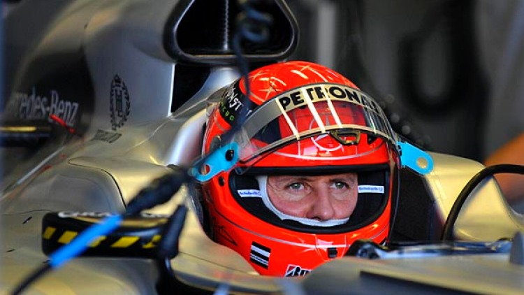 Michael Schumacher during the first practice session.