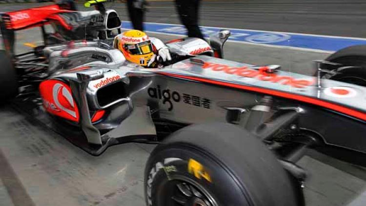 Lewis Hamilton during practice.