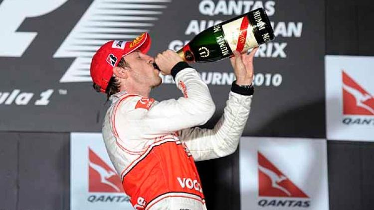 Jenson Button, winner of the 2010 Melbourne Grand Prix.