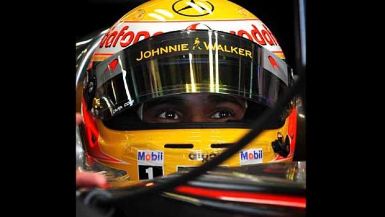 Lewis Hamilton in his McLaren.
