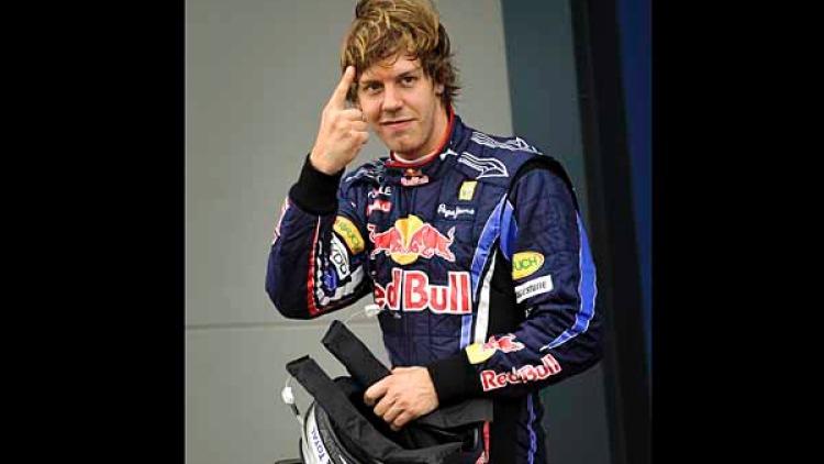 Fastest qualifier and poll position Sebastian Vettel.
