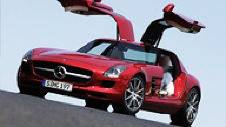 """Mercedes-Benz """"Gullwing""""  AMG SLS supercar"""