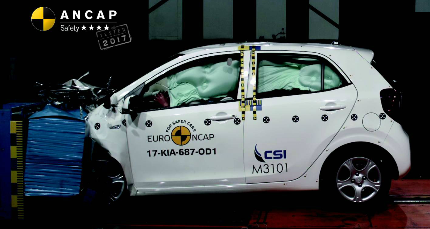ANCAP - Kia Picanto Scores 4-Star Safety Rating   5-Stars For Mazda CX-5 And C-Class Cabriolet