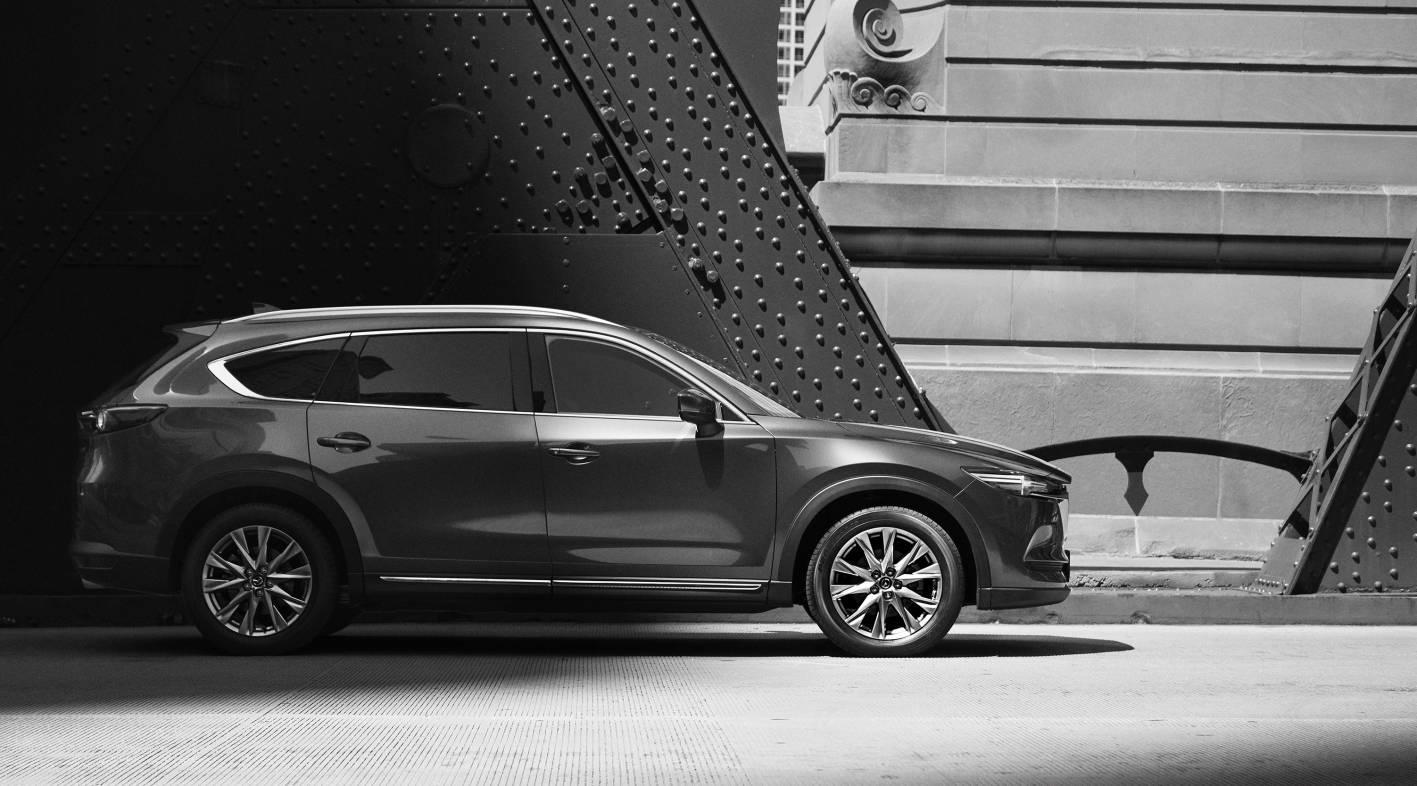 Mazda CX-8 First-Glimpse Teases Seconds Seven-Seat SUV