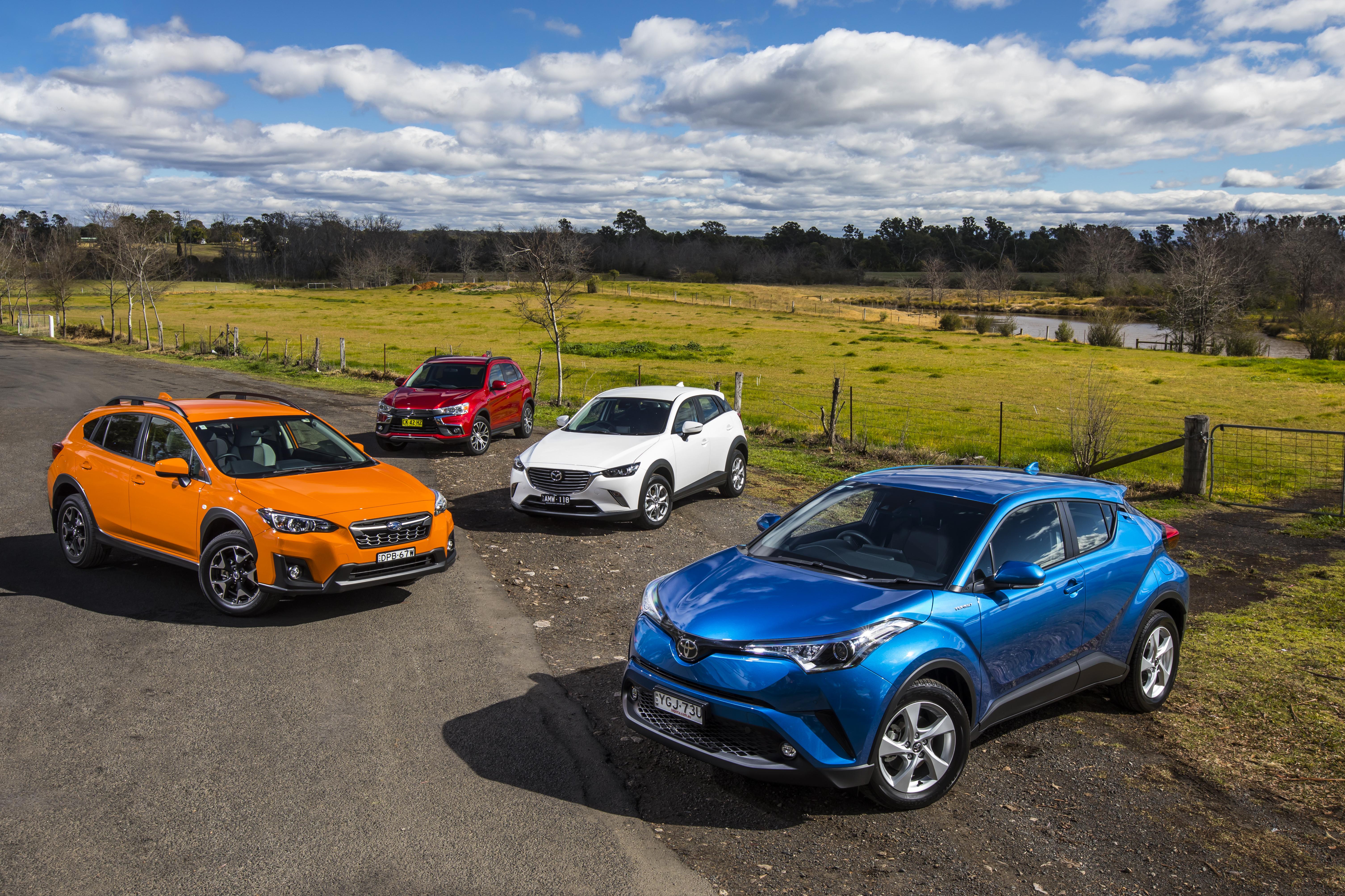 Small SUV Comparison: Mitsubishi ASX v Mazda CX-3 v Toyota C-HR v Subaru XV