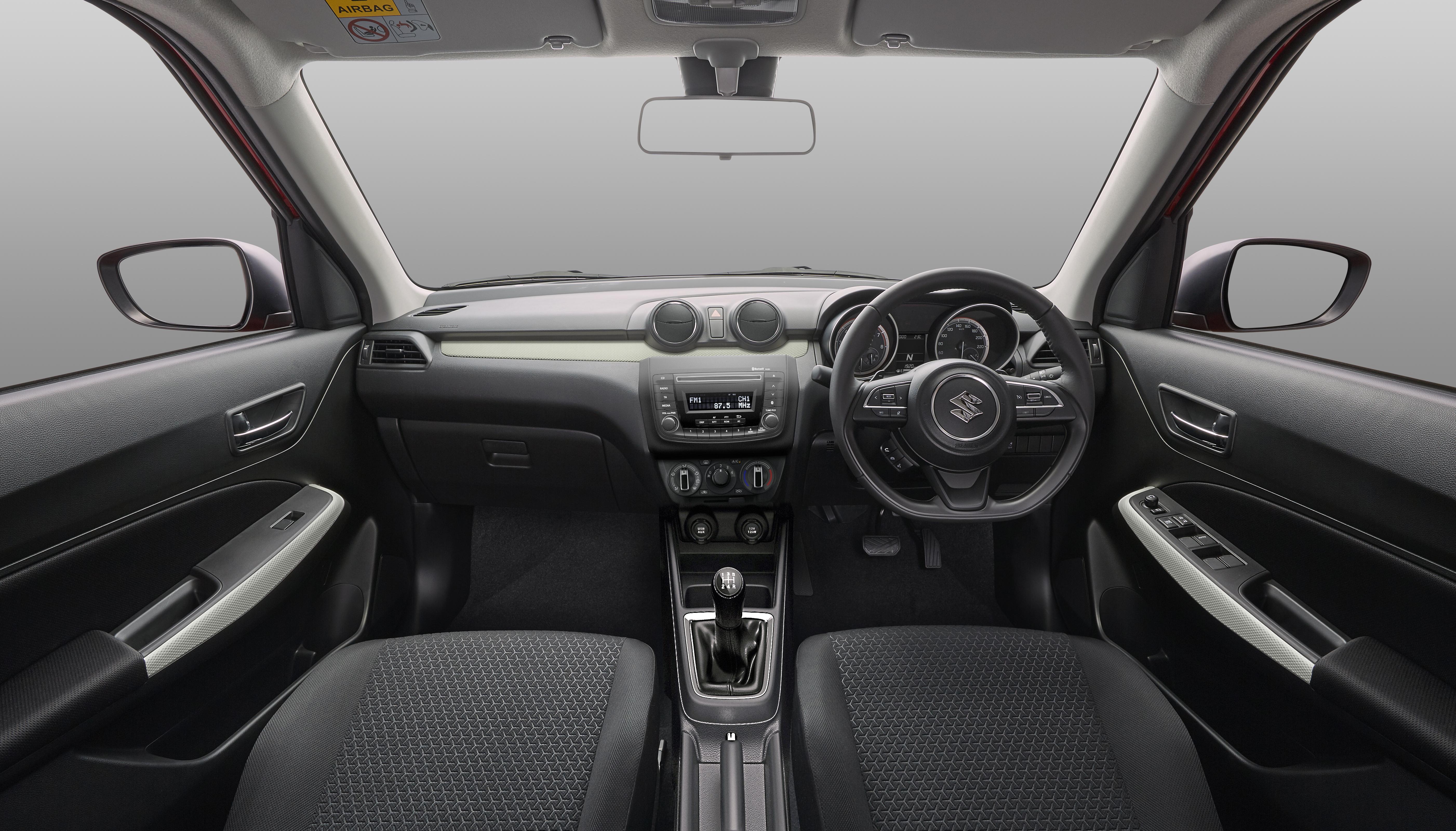 2017 Suzuki Swift GL interior.