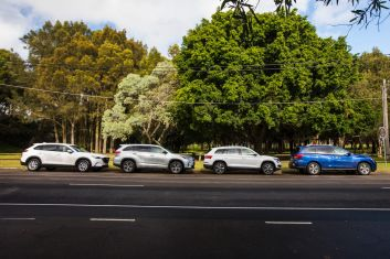 Seven seat SUV comparison: Skoda Kodiaq, Mazda CX-9, Nissan Pathfinder, Toyota Kluger.