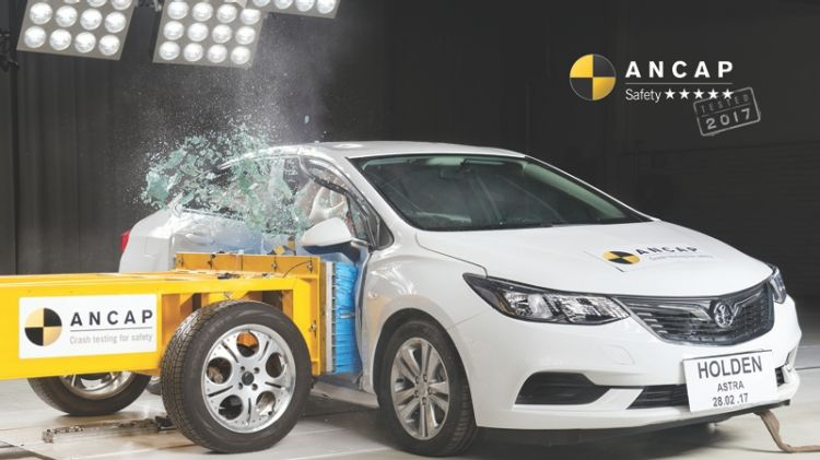 Though Holden's Astra offers a five-star safety score, ANCAP is disappointed that the model does not offer autonomous emergency braking.