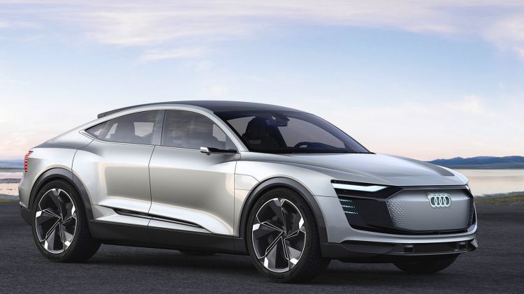 Audi's Audi e-tron Sportback concept uses three electric motors to make 370kW of power.