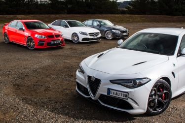 Muscle car comparison: Alfa Romeo Giulia QV v BMW M3 Competition v HSV GTS v Mercedes-AMG C63 S
