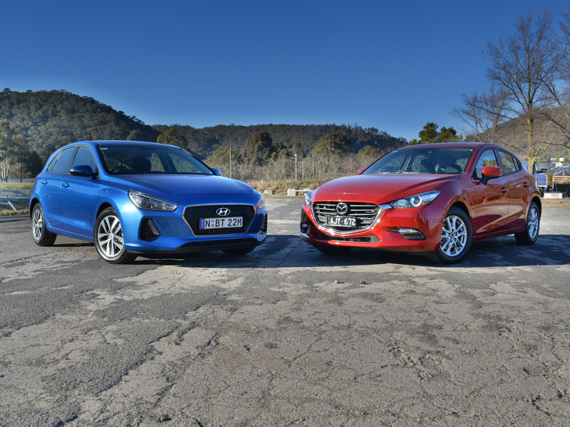 Small Hatch Match-Up - Hyundai i30 Active v Mazda3 Neo Comparison Review