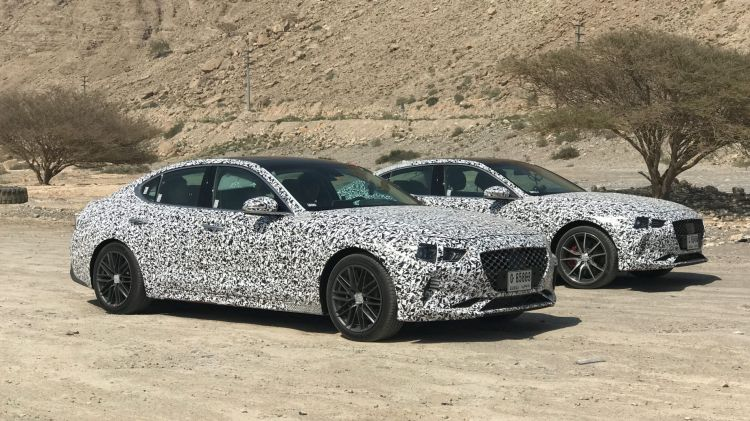 Australian motoring writers spotted the new Genesis G70 in Dubai.