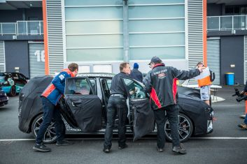 Brendon Reeves drove a Hyundai i30N prototype at the 2017 Nulon Nationals in Bathurst. Also, David McCowen in his Renault Megane.