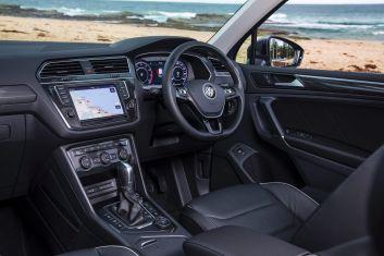 Mid-size SUV comparison: Volkswagen Tiguan 162TSI Highline AWD petrol.