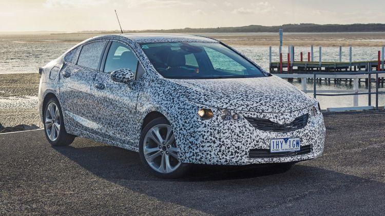 2017 Holden Astra sedan prototype.