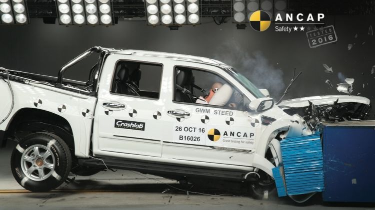 Great Wall's Steed did not fare well in ANCAP's crash test.