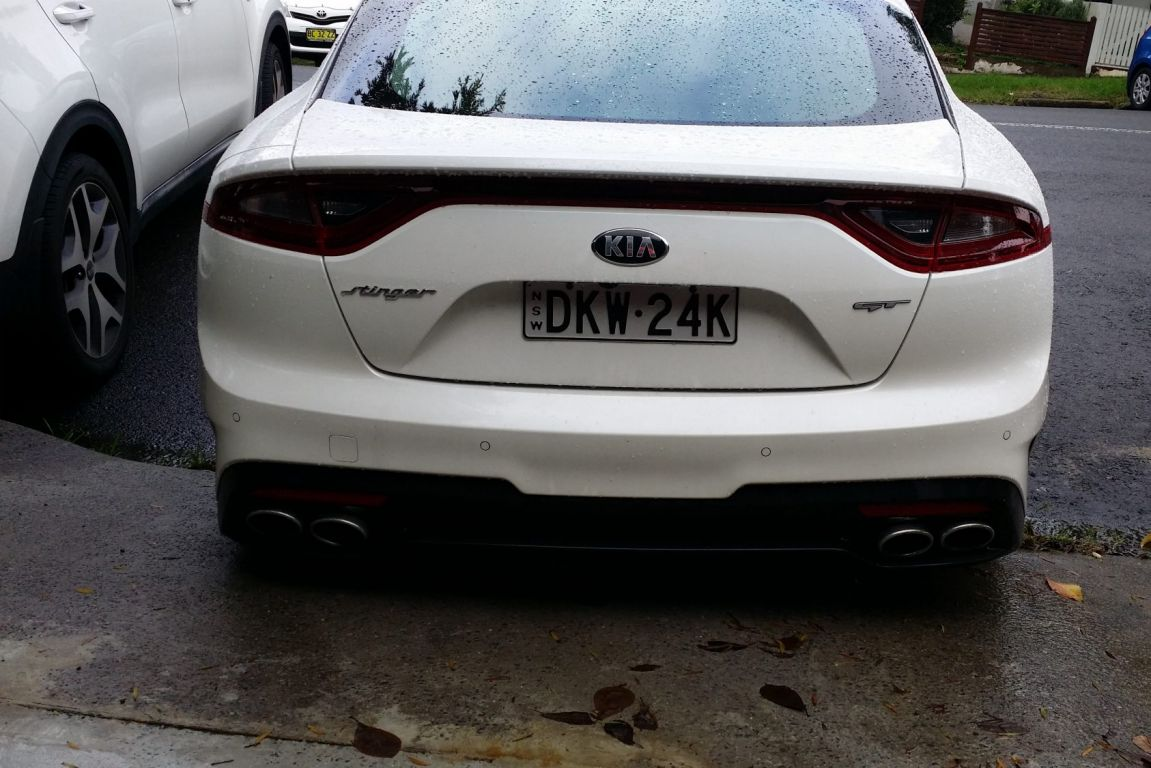 The 2017 Kia Stinger was caught undisguised in Sydney before its September launch