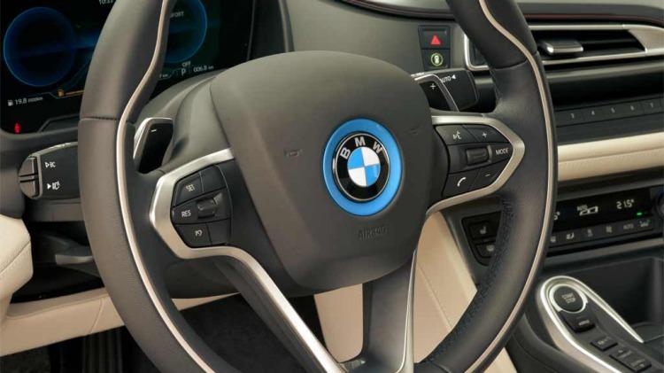 BMW's hybrid supercar turns plenty of heads as it crusies through Los Angeles.