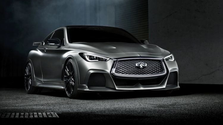 The Infiniti Q60 Project Black concept was unveiled at the 2017 Geneva motor show.