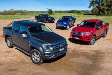 Volkswagen Amarok V6 v Ford Ranger XLT v Toyota HiLux SR5 v Holden Colorado Z71 comparison review