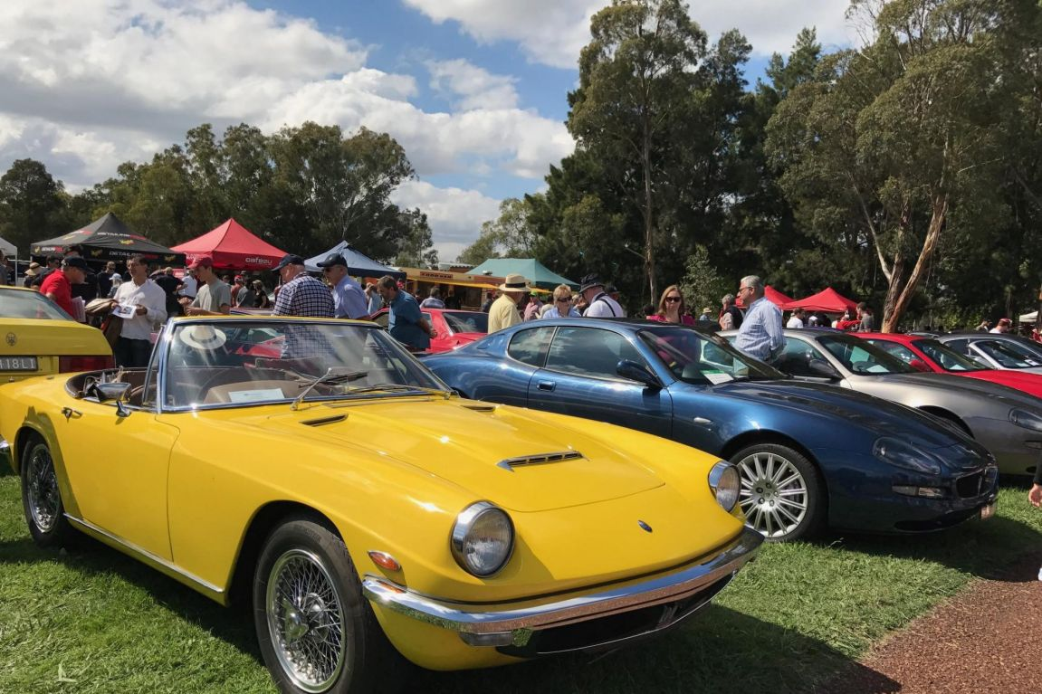 Beautiful Maseratis on display at AutoItalia at Old Parliament House in Canberra.