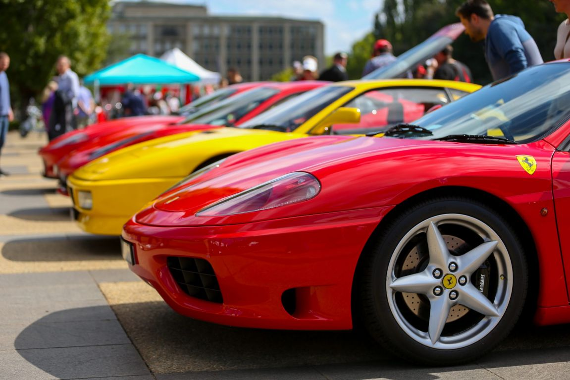 More than 80 Ferraris gathered to help celebrate the brand's 70th anniversary at AutoItalia