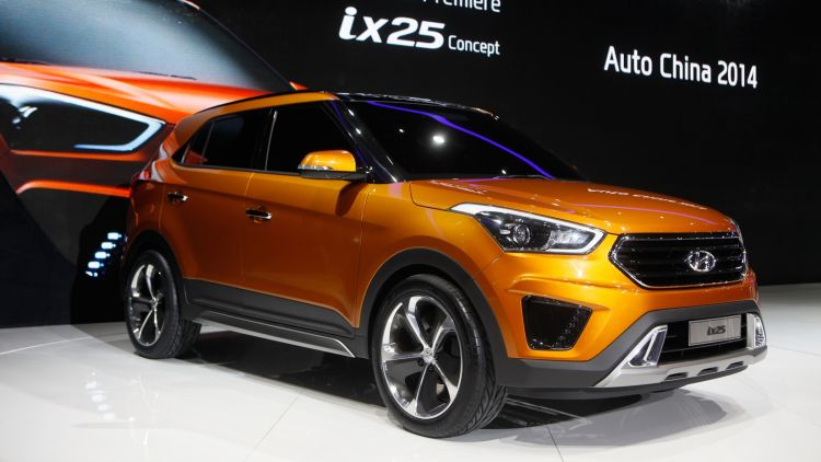Hyundai is set to enter the compact SUV market with a new offering, similar to its ix25 concept pictured.