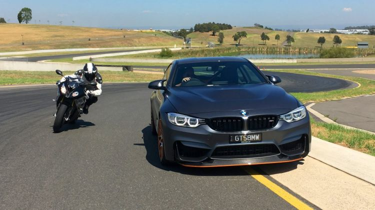 Car v Bike: BMW M4 GTS v BMW S1000RR.