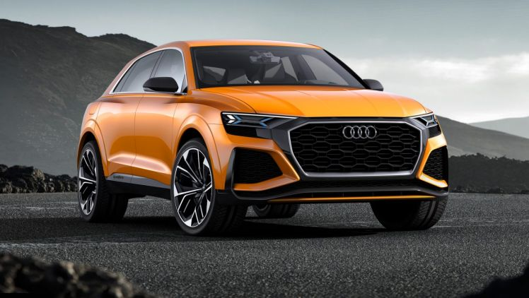 The Audi Q8 Sport Concept is powered by a twin-turbocharged V6 petrol engine that is paired with an electric motor.