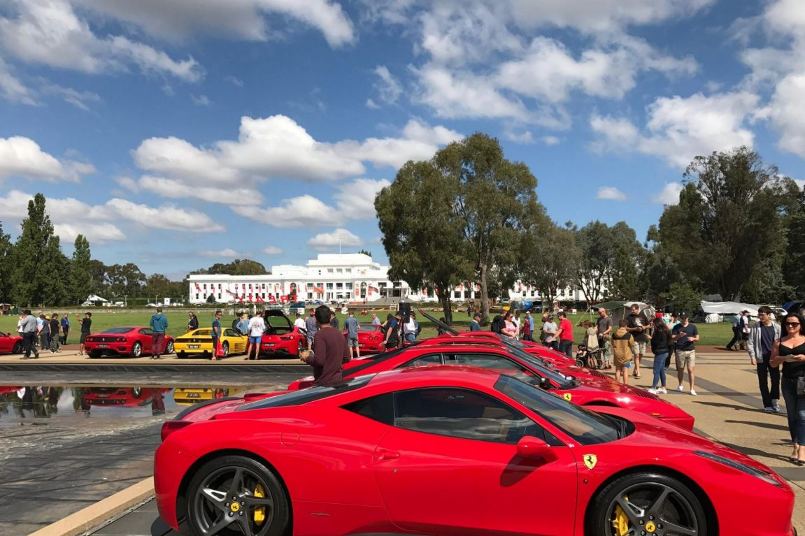 Classic and modern Ferraris were on display at AutoItalia at Old Parliament House in Canberra.