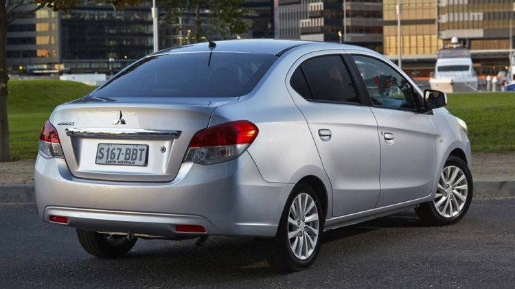 Mitsubishi Mirage sedan.