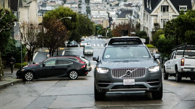Uber is developing self-driving vehicles using Volvo SUVs in San Francisco.