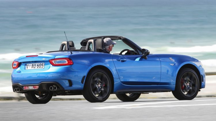 The Abarth 124 Spider in action.