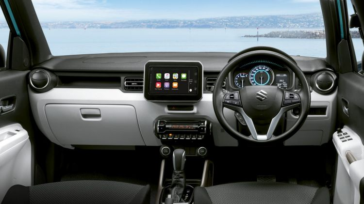 The Suzuki Ignis cabin is spacious and modern.