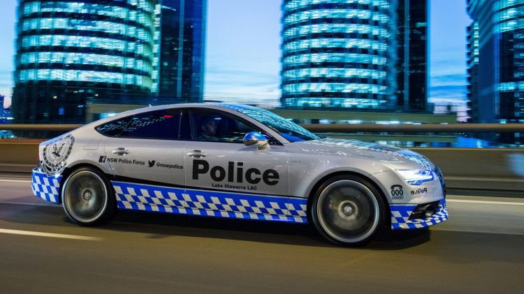NSW Police Force's Audi S7..