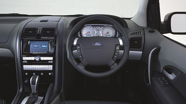 The interior: Ford Territory Ghia Turbo.