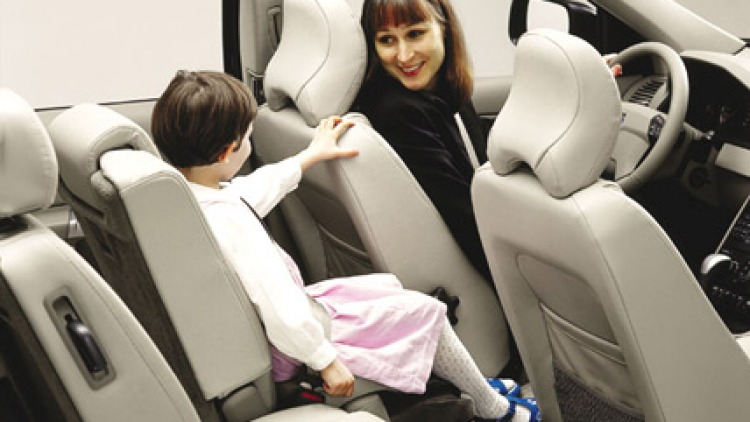 Volvo built-in child seat