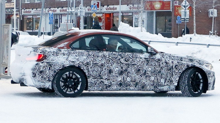 Spy photographers have snapped the new BMW M2 coupe during testing. Source: Automedia.