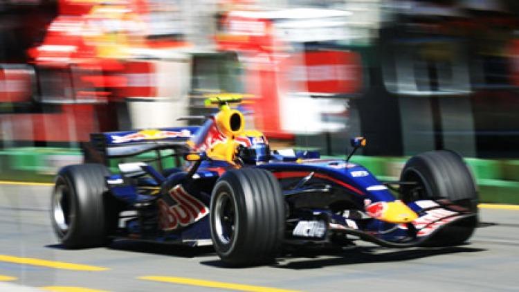 Mark Webber in the 2007 Formula One Grand Prix in Melbourne.