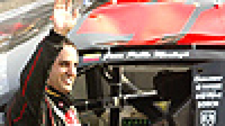 Colombia's Juan Pablo Montoya celebrates his NASCAR victory. Picture: AFP