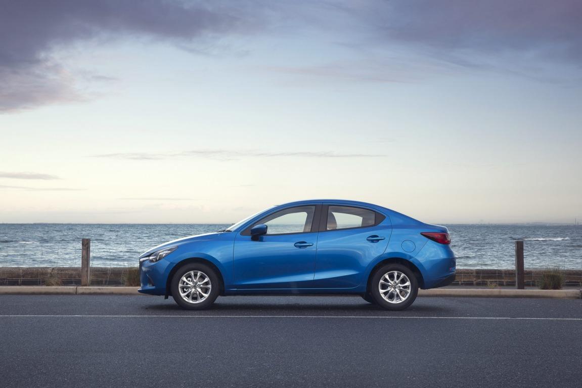 Mazda has added some sedan practicality to its Mazda2 range.